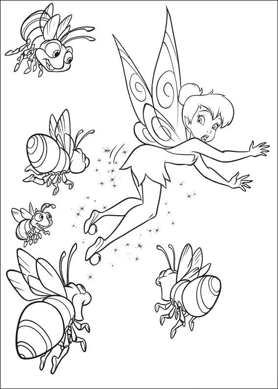 Откройте для себя мир Динь-Динь и ее четырех подружек-фей, с помощью этой замечательной подборки раскрасок.