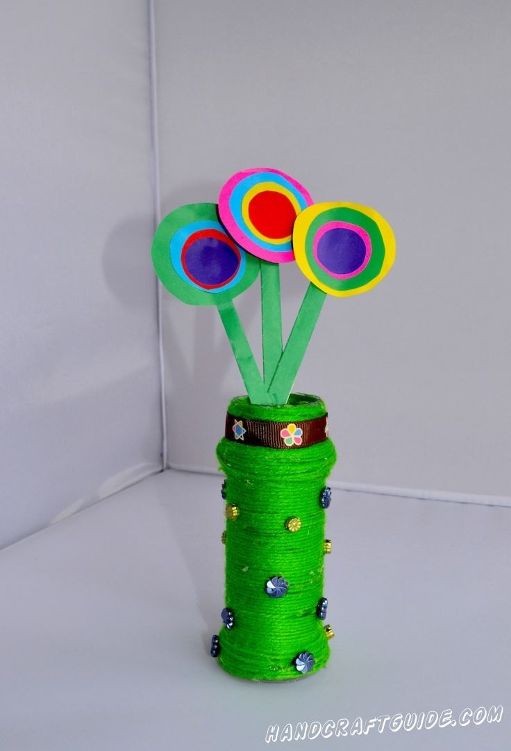 поделка ваза из подручных материалов