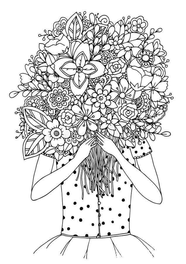 бесплатные раскраски антистресс цветы