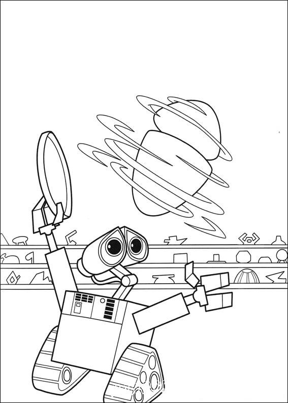 раскраски робот валли