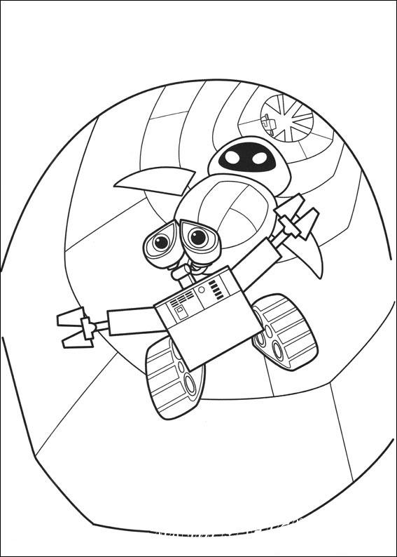 разукрашки робот валли