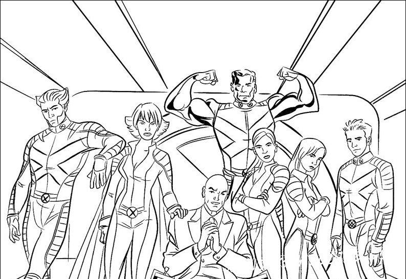 """Самые любимые мутанты из фильма """"Люди-Икс"""" в подборке раскрасок, специально для вас."""
