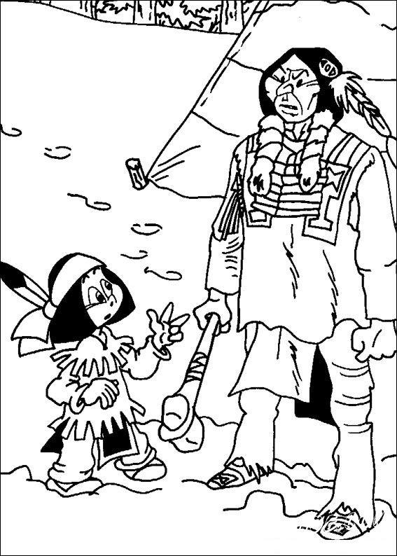 раскраски индейцы для мальчиков