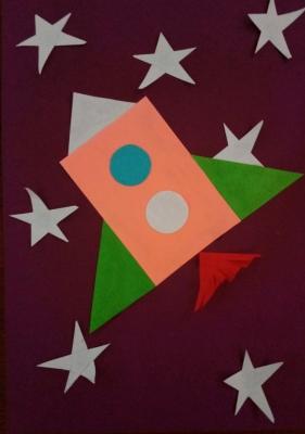 3...2...1...отправляем ракету из цветной бумаги в космос!