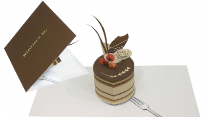 Pop-up card (chocolate cake)
