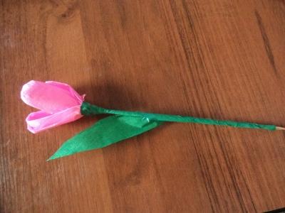 поделка тюльпан на 8 марта