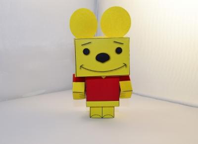 Игрушка из бумаги, самого доброго и милого медведя в мире - Винни Пуха, специально для вас! Скачай схему и следуй инструкции.