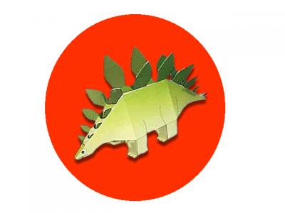 паперкрафт шаблон динозавр