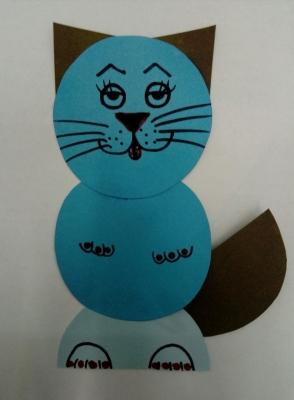 """Поделка """"Котик"""" украсит вашу комнату, после того как мы сделаем её своими руками!"""