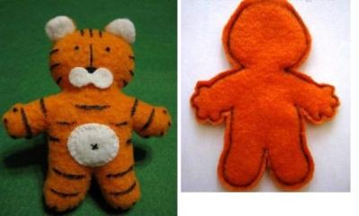 Сегодня мы будем учиться делать мягкие игрушки своими руками, а именно миленького тигрёнка.