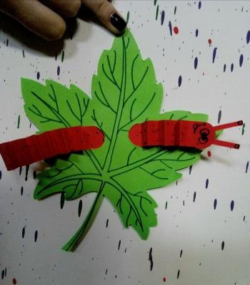 аппликация для детей гусеница