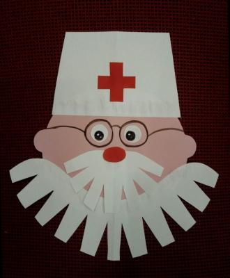 Добрый доктор Айболит из цветной бумаги снова спешит на помощь.