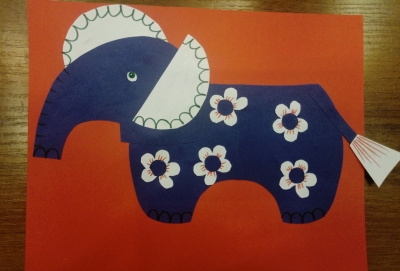 Замечательная аппликация-слоник из цветной бумаги, для детей любого возраста, специально для вас!