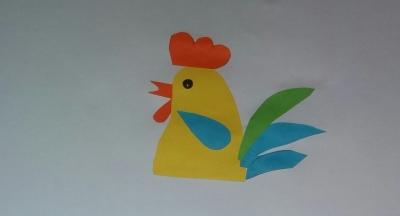 Петя петушок из цветной бумаги, скорее присоединяйтесь к выполнению!
