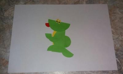 Легкая поделка своими руками дракон из цветной бумаги