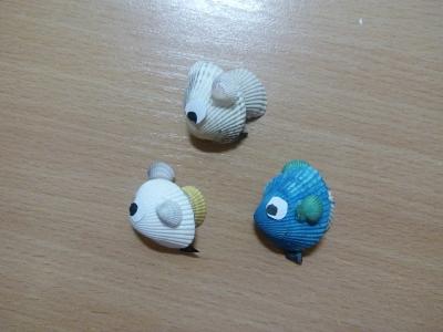 Создай свой личный аквариум с таким рыбками из ракушек.