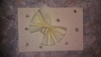 Приветики, друзья! Сейчас мы будем делать замечательную открытку с бантиком-бабочкой. Так что не тратьте время и скорее присоединяйтесь.