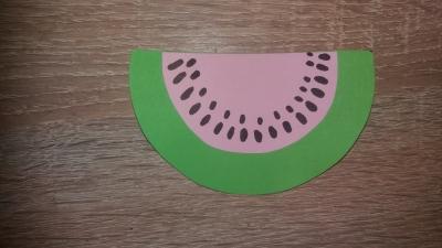поделка из цветной бумаги арбуз