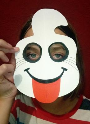 детская маска приведения на хэллоуин