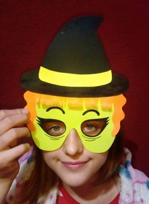 маска на хэллоуин своими руками из бумаги