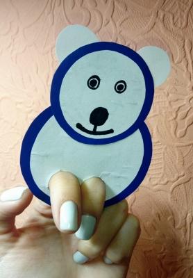 пальчиковая игрушка полярный мишка для детей