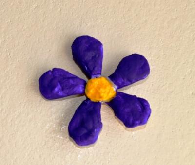цветок из соленого теста