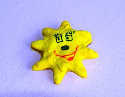 Учимся делать и лепить из солёного теста звёздочку, своими руками.