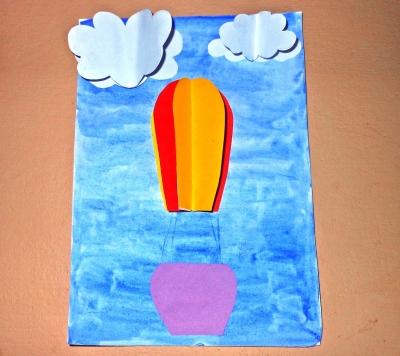 Отправляем воздушный шар из цветной бумаги, покорять вершины.