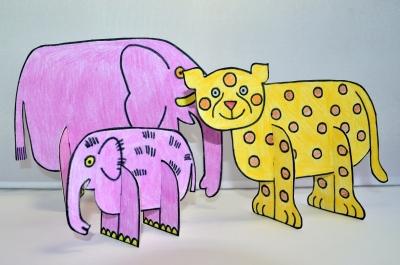 Очень милого тигрёнка из бумаги мы сделаем для нашего игрушечного зоопарка.