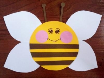 поделка из бумаги пчелка