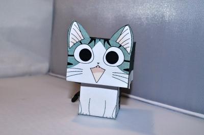 Сделай замечательную бумажную игрушку котика своими руками!