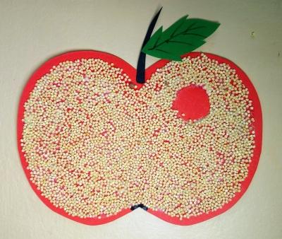 Задаетесь вопросом, как сделать яблоко из бумаги и крупы? Тогда вы попали по адресу!