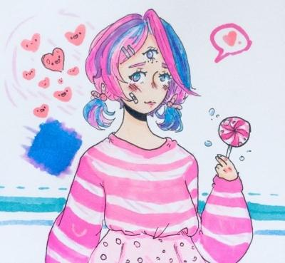 картинка аниме девочка для срисовки