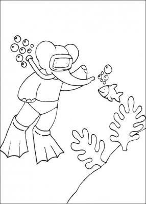 раскраски для детей бабар