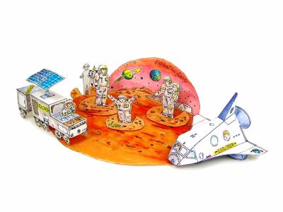 Исследуй новые планеты вместе с личными исследователями и техникой из бумаги. Скачай схему и пошаговую инструкцию, одним файлом, прямо сейчас.
