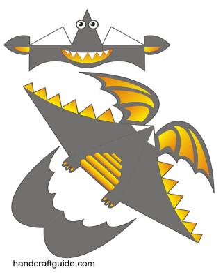 паперкарфт развертки дракон
