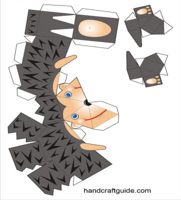 паперкарфт шаблон ежик