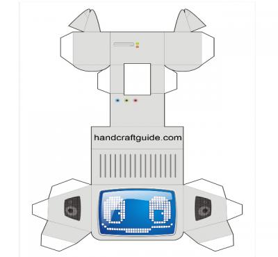 Как сделать робота из бумаги своими руками?  Да просто склейте вложенную схему и получить крутую объёмную фигурку.