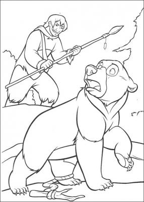 разукрашки из мультика братец медвежонок