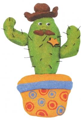 Мастер-класс Шериф - кактус из соленого теста своими руками