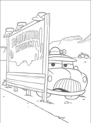 """Подборка раскрасок, по мотивам культового мультфильма """"Тачки"""". Придай ярких красок миру живых машин!"""