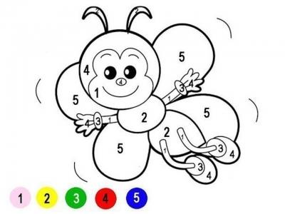 дошкольник раскраски по номерам