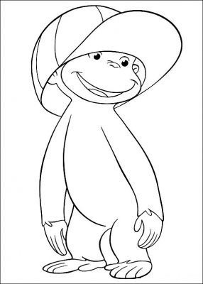 раскраски ддя детей обезьянка