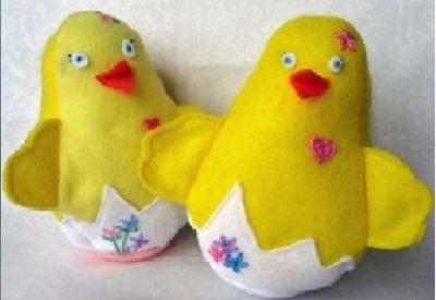 Мягкая игрушка цыпленок которую можно сделать своими руками