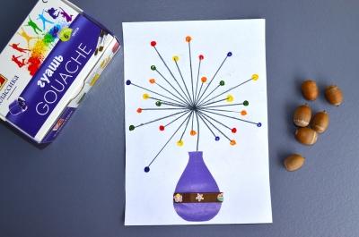 Картины своими руками на бумаге для детей, простые пошаговые картины