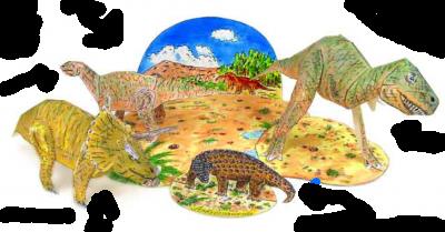 паперкарфт для мальчиков динозавры