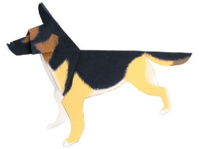 оригами схемы собака