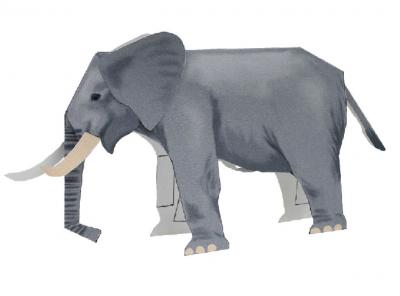 паперкарфт шаблон слон