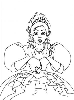 раскраски для девочек принцесса