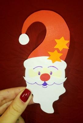 Ну, какие же новогодние праздники без поделок с Дедушкой Морозом из цветной бумаги.